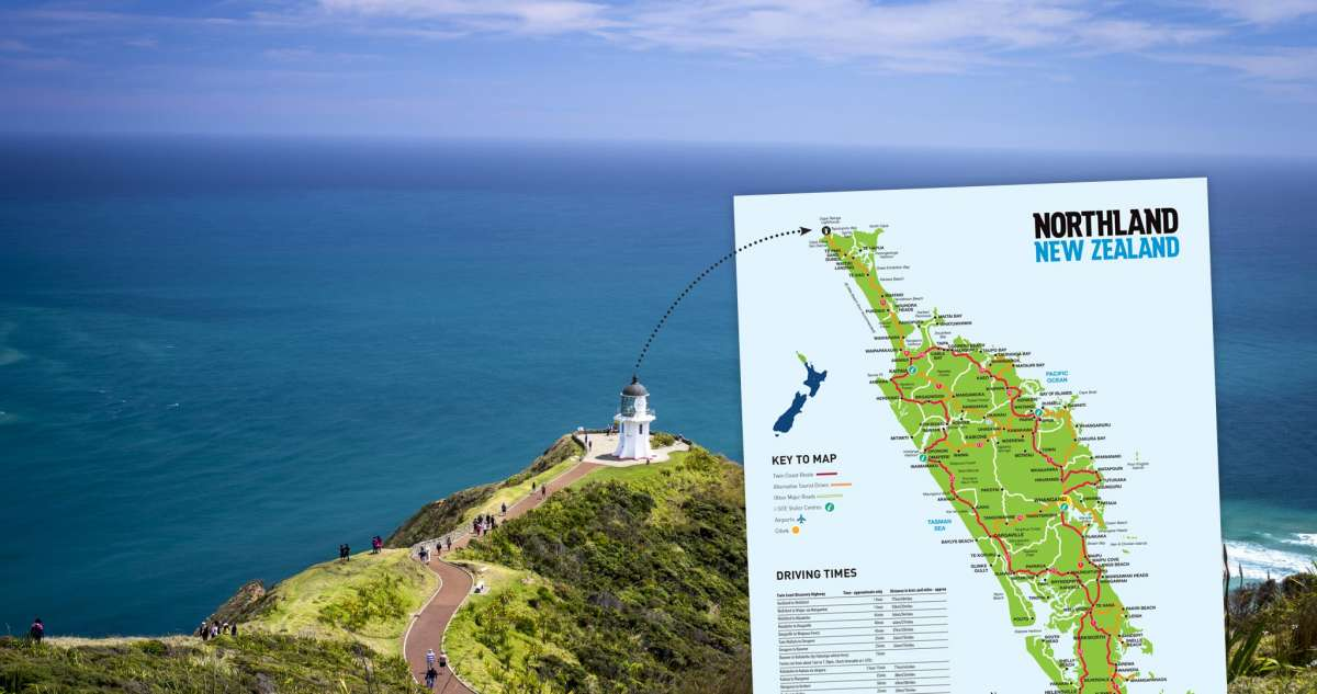 Northland New Zealand Map.Northland Map With Drive Times Northland Inc Northland New Zealand